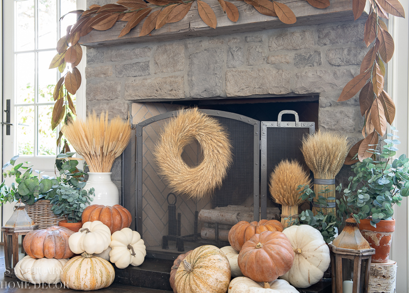warm and cozy fall home tour-Fireplace decorating ideas