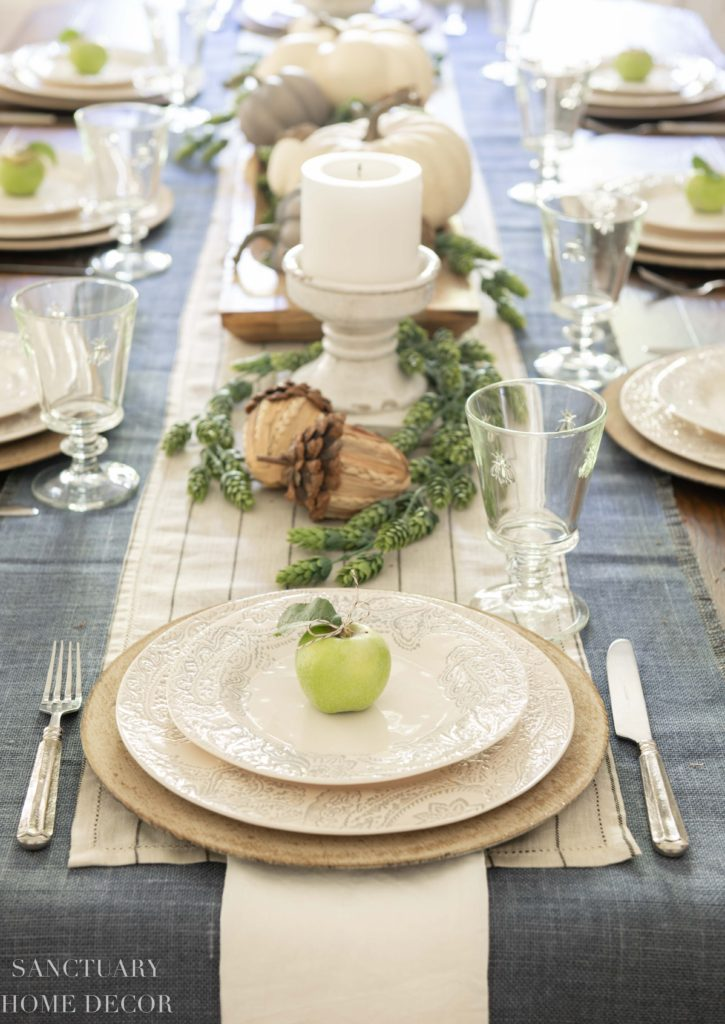 Ideas For Setting A Neutral Fall Table, Dining Room Table Setting Ideas