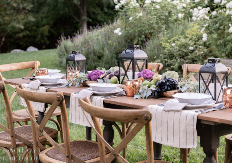 Fall Harvest Tablescape – From Everyday to Holiday