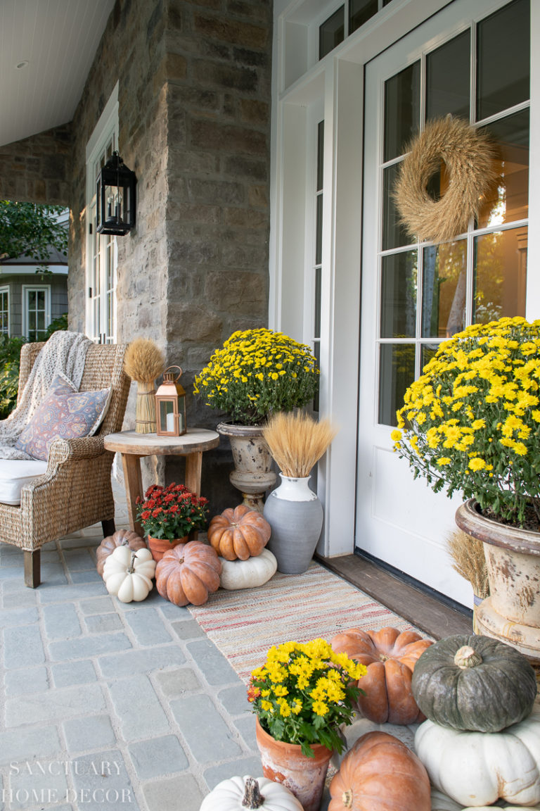 Fall Front Porch Decorating Inspiration