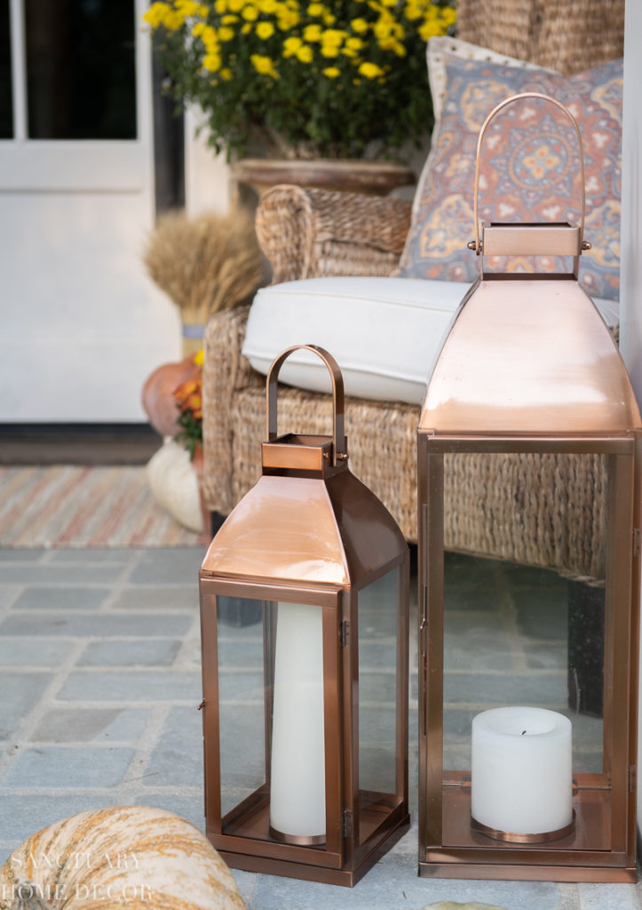 Large copper lanterns