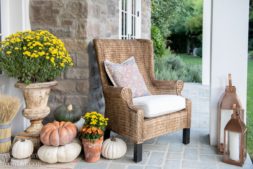 Front Porch Decorating For Fall - Sanctuary Home Decor