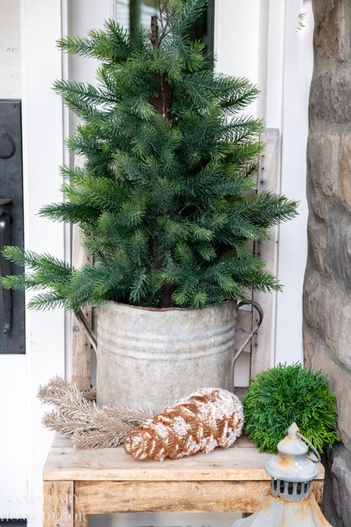 Neutral Christmas Front Porch Decor Sanctuary Home Decor