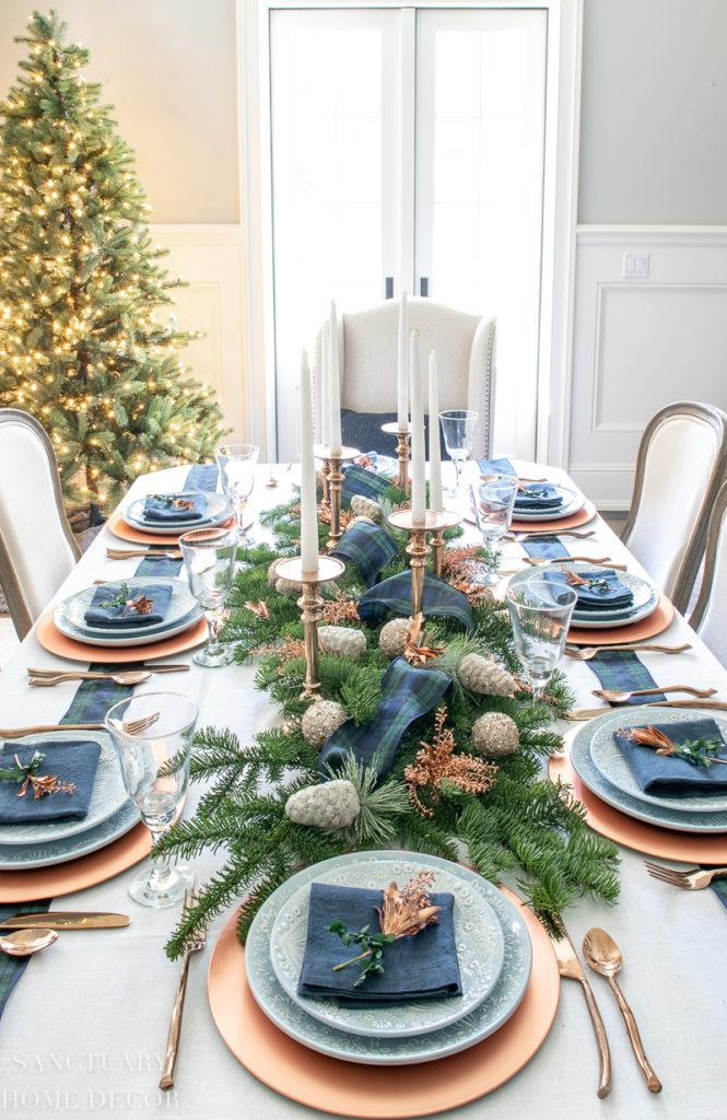 An Easy Christmas Centerpiece For A Long Table Sanctuary Home Decor