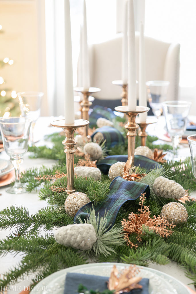 An Easy Christmas Centerpiece For A Long Table Sanctuary Home Decor