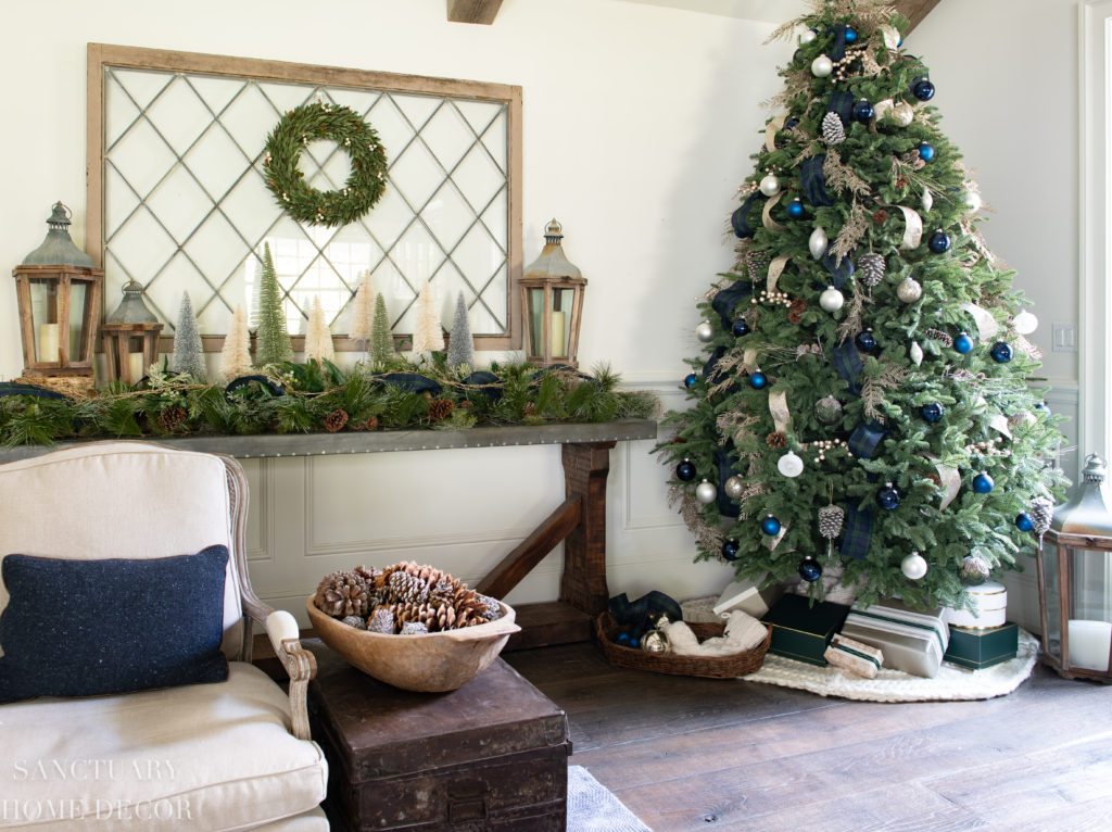 Cozy Plaid Christmas Decor In Green And Blue Sanctuary Home Decor