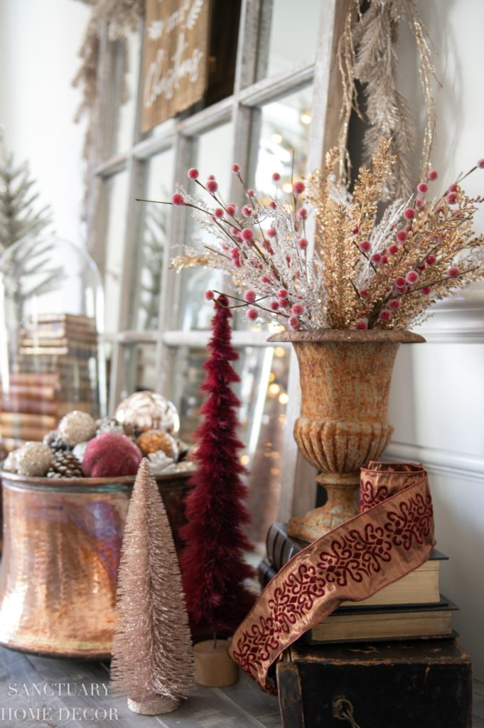 Christmas Decorating Ideas in Burgundy and Copper