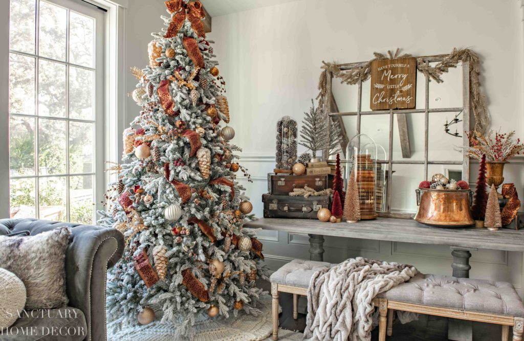 Christmas Decorating Ideas In Copper Burgundy Sanctuary