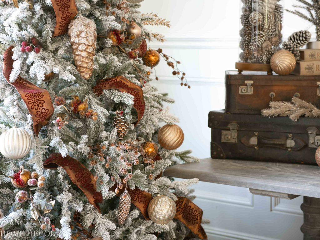 Christmas Decorating Ideas In Copper Burgundy Sanctuary Home Decor