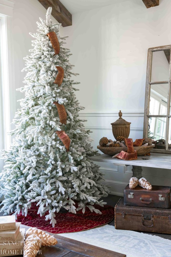 A Simple Way To Put Ribbon On A Christmas Tree Sanctuary Home Decor