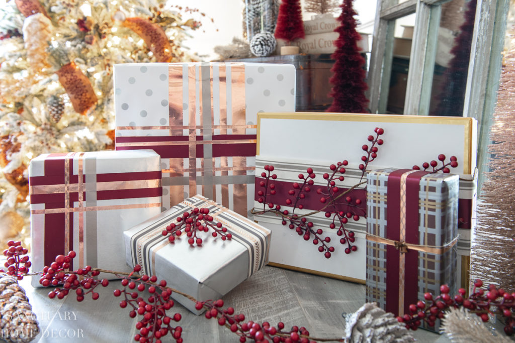Easy Christmas Gift Wrapping Without Bows Sanctuary Home Decor