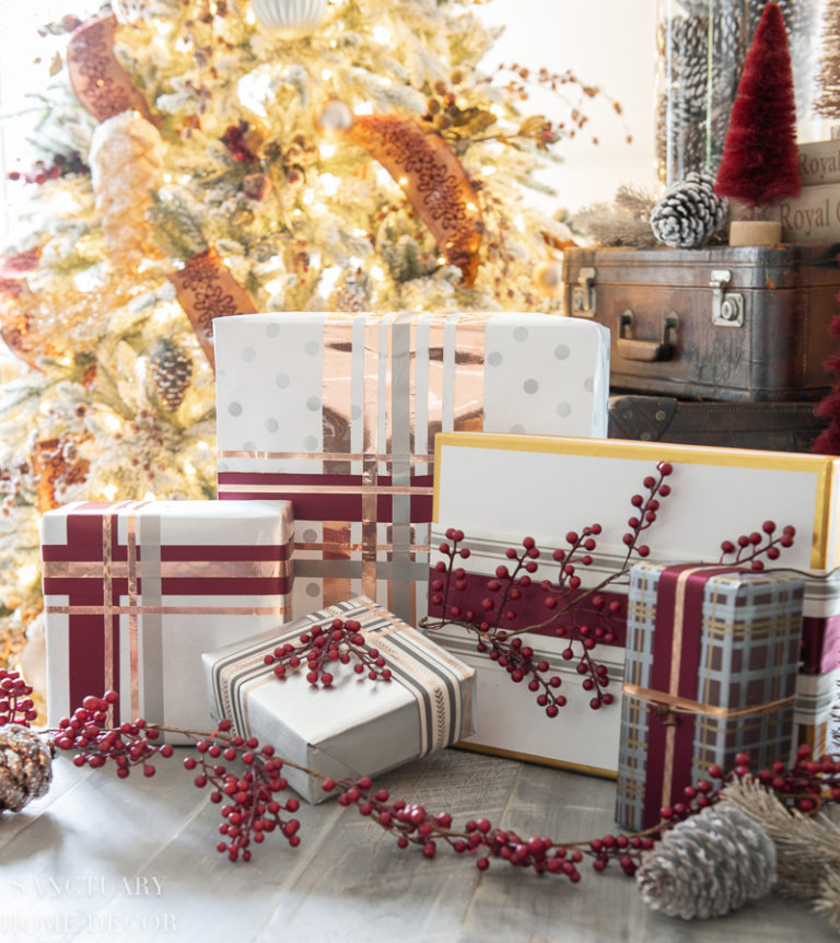 Easy Christmas Gift Wrapping Without Bows