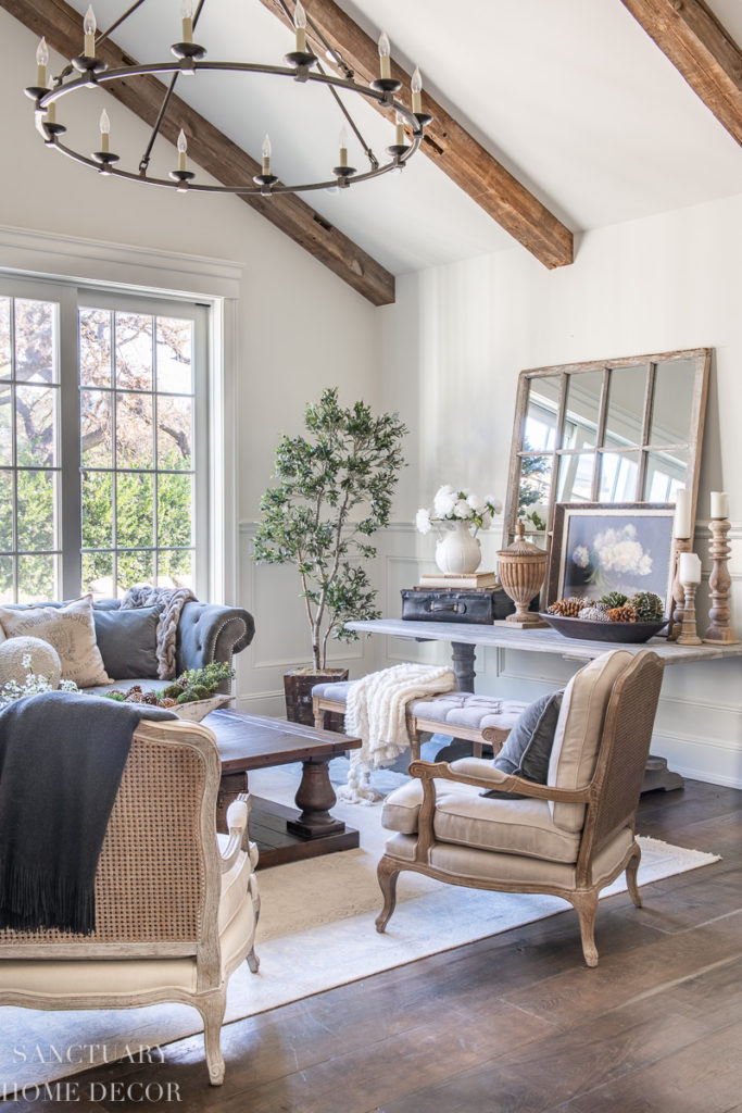 living room decorating with winter whites  sanctuary home