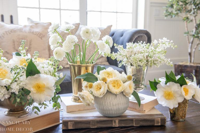 How to Make a Flower Arrangement Vignette