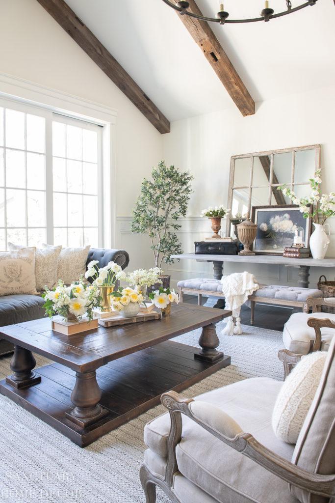 Decorating A Big Living Room  from sanctuaryhomedecor.com