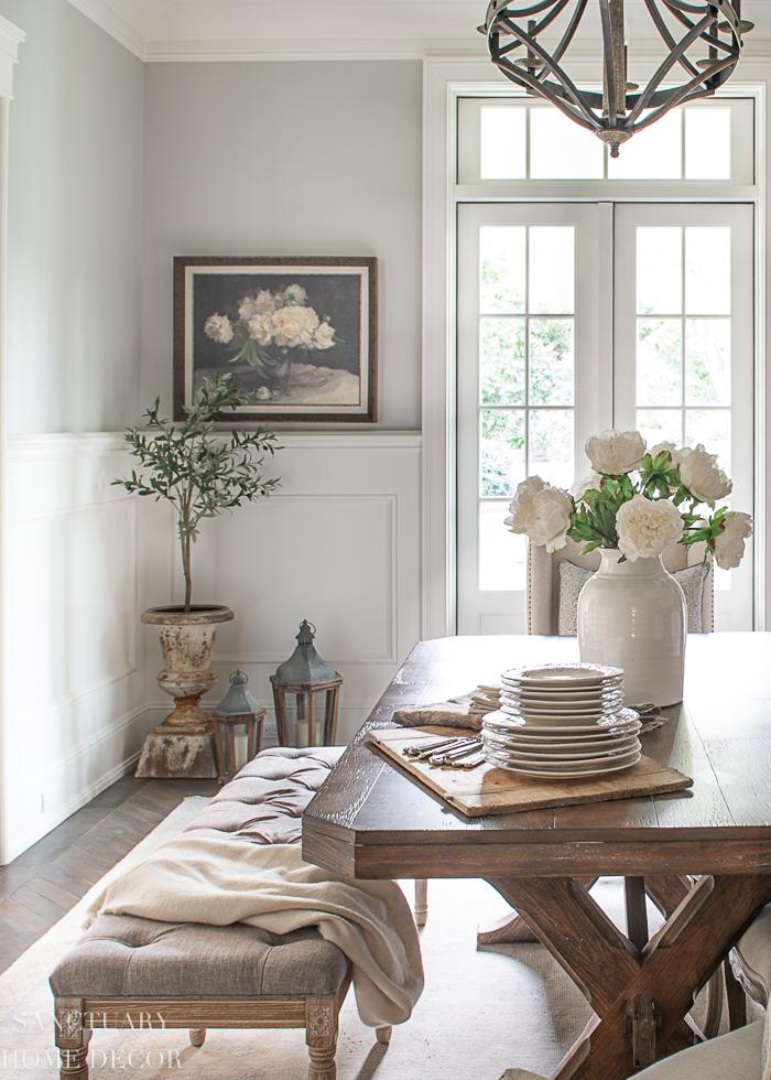 Spring dining room decor