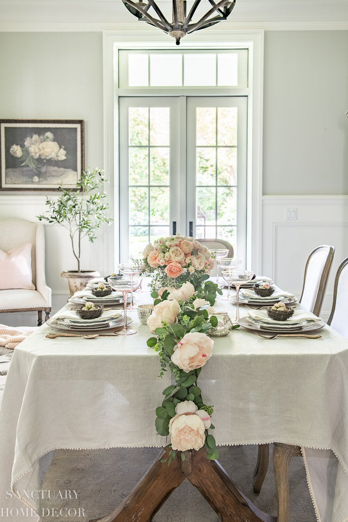 How to Set a Beautiful Spring Table