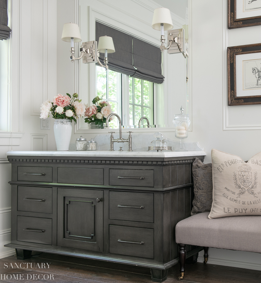 Gray And White Master Bathroom Design Ideas Sanctuary Home Decor