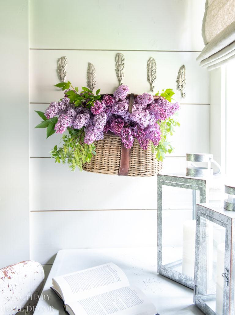 Wreath Alternative – Flowers in a Basket