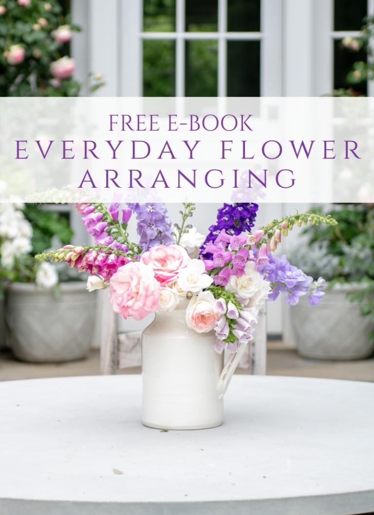 How to Arrange Flowers – Free E-Book!