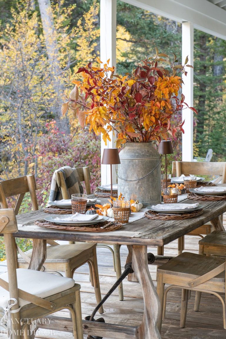 How to Set a Rustic Fall Table