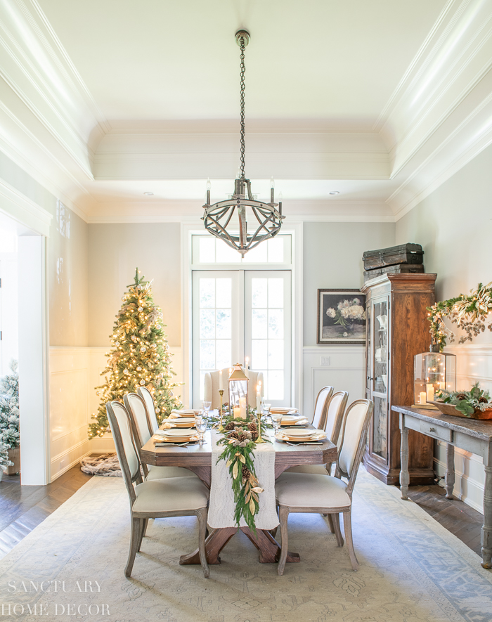 Cozy Christmas Dining Room Decorating Ideas Sanctuary Home Decor