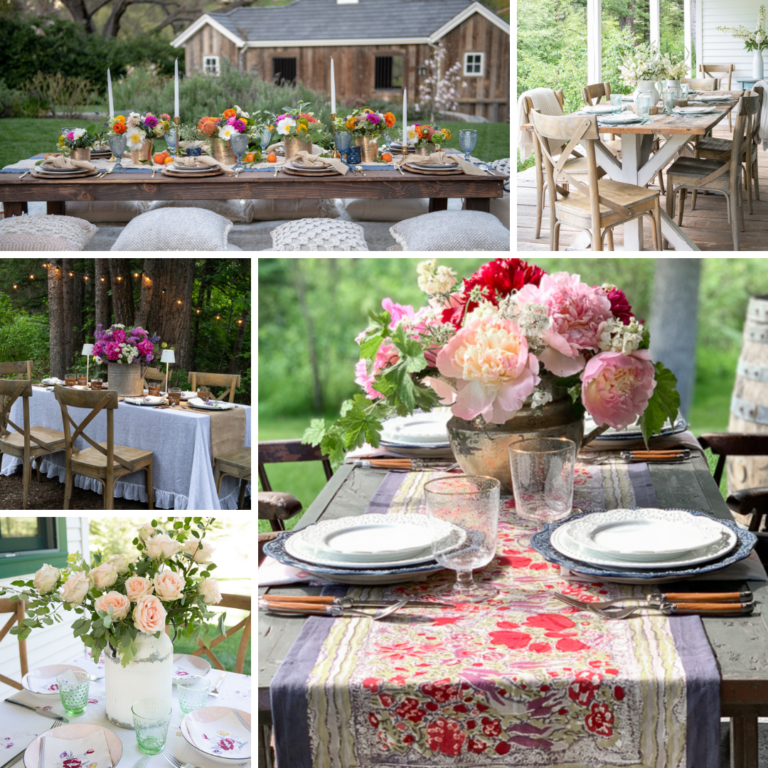 10 Ways to Set An Outdoor Table