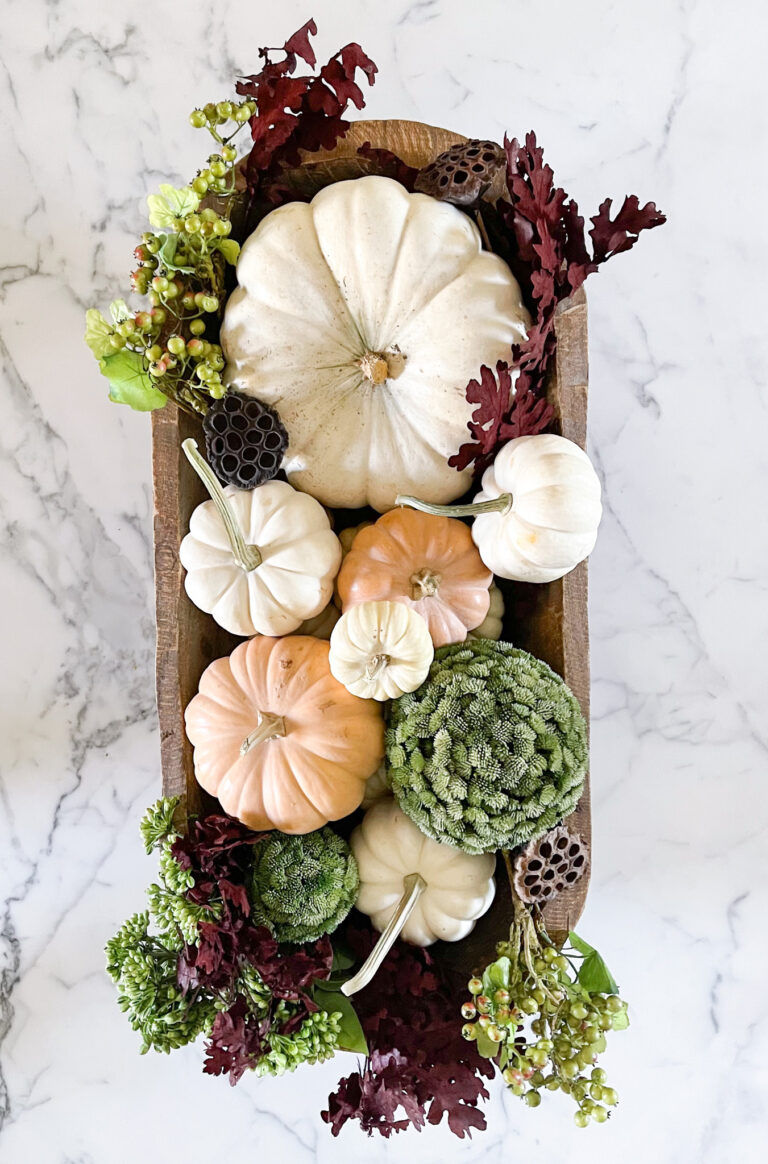 5 Ways to Style a Dough Bowl for Fall